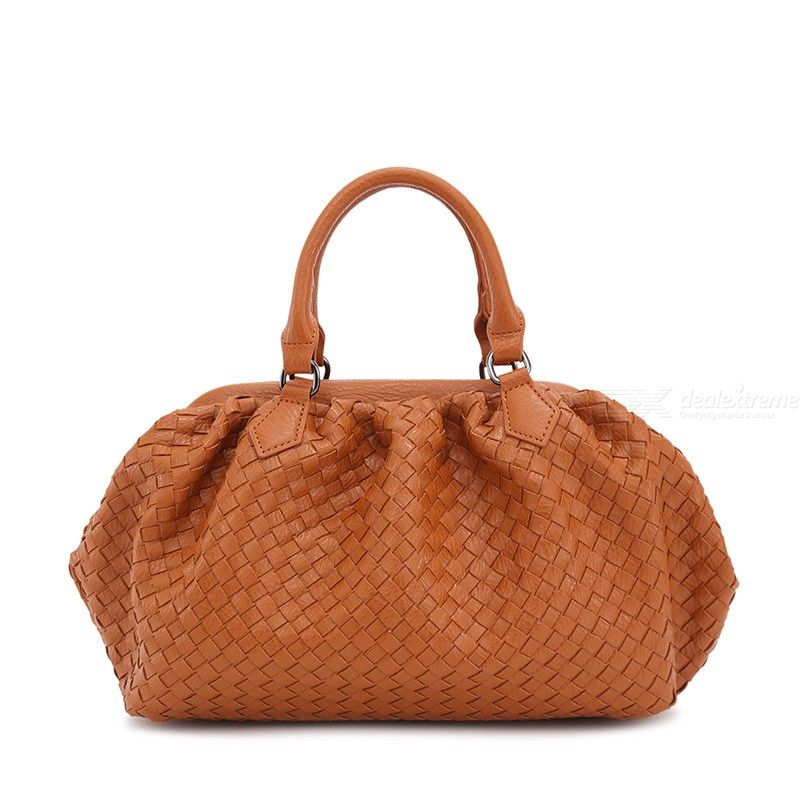 Womens Fashion Handbags High Quality Woven PU Leather Crossbody Shoulder Bags Casual Solid Color Travel Bag