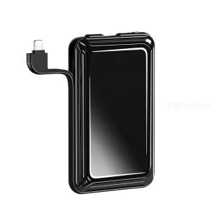 Portable Power Bank 8000mAh Portable Charger With Dual USB Built In Lightning Cable