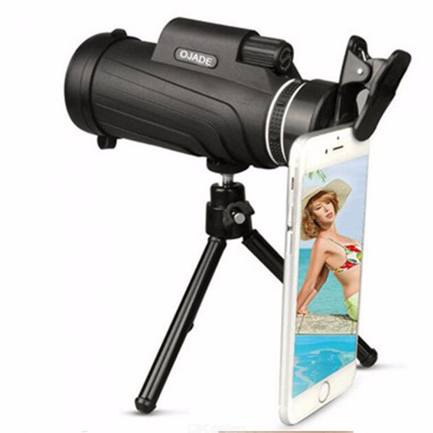 Universal HD 50X52 Monocular Telescope with Lens Clip Tripod For Mobile Phones