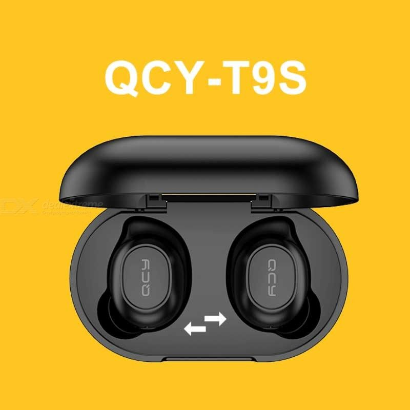 Pre-sale QCY-T9S TWS Bluetooth Earphone Mini Binaural Wireless Earbuds Headset W/ Charging Box For Mobile Phones