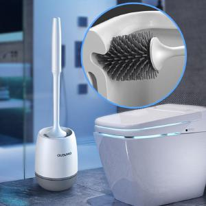 Toilet Brush Set Free Stand TPR Soft Toilet Cleaning Brush