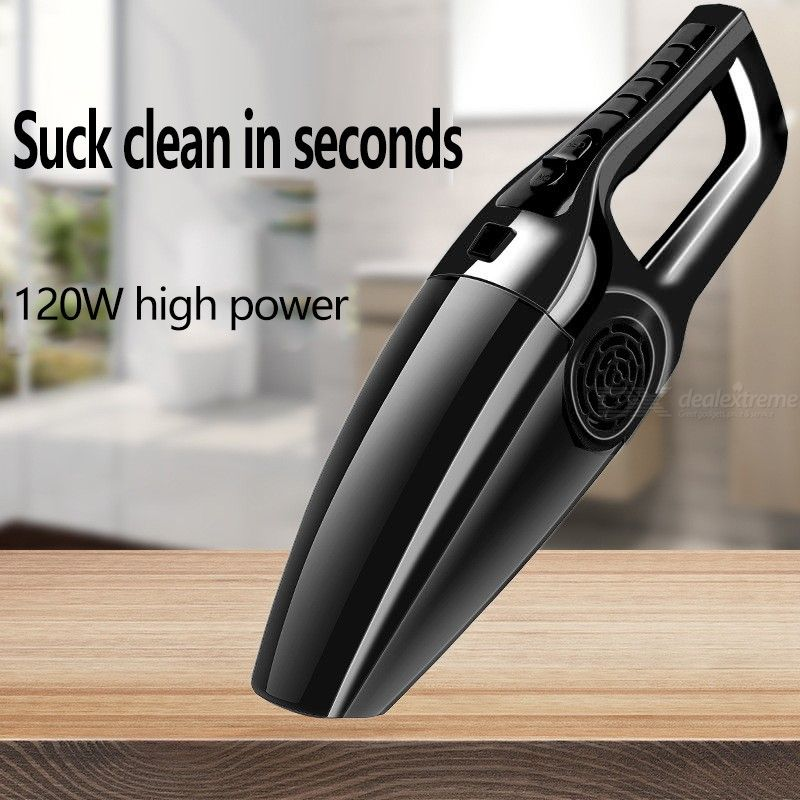 120W Car Vacuum Portable Mini Electric Car Cleaner For Wet Dry Use