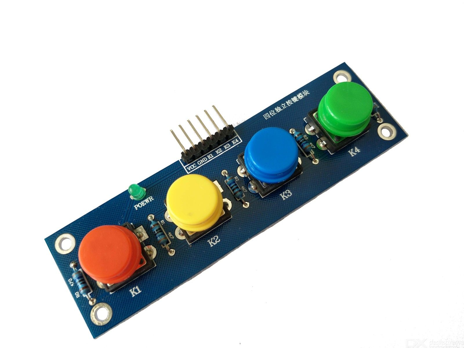 Four Caps With a Button Module, Independent Button Electronic Module MCU