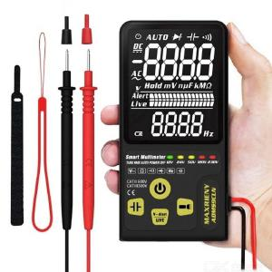 MAXRIENY ADMS9CLN Dual Mode Automatic Digital Multimeter, AC/DC Voltage Resistance Frequency Capacitance Meter With Flashlight