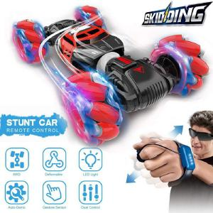 Gesture Sensing Drift RC Car Remote Control Stunk Car Toy With LED Light And Music For Kids
