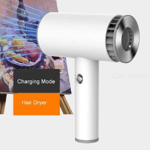 Portable Wireless USB Rechargeable Hair Dryer, Smart Cordless 2-Mode Hair Drier Blower
