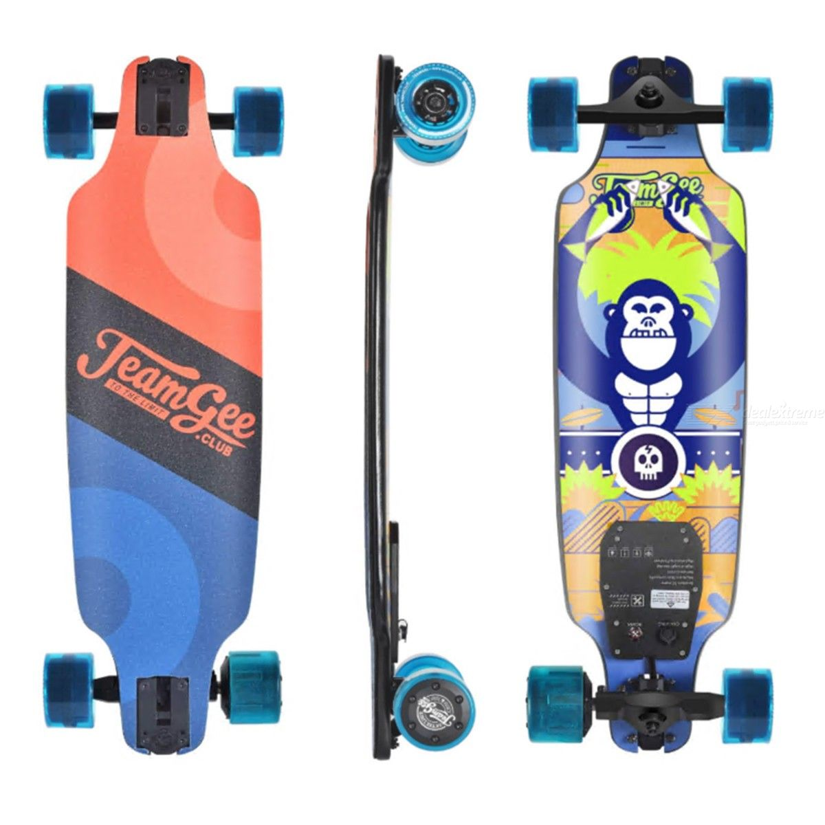 Teamgee H8 31 Inch Electric Skateboard 10 Layers Maple Longboard With Wireless Remote Control