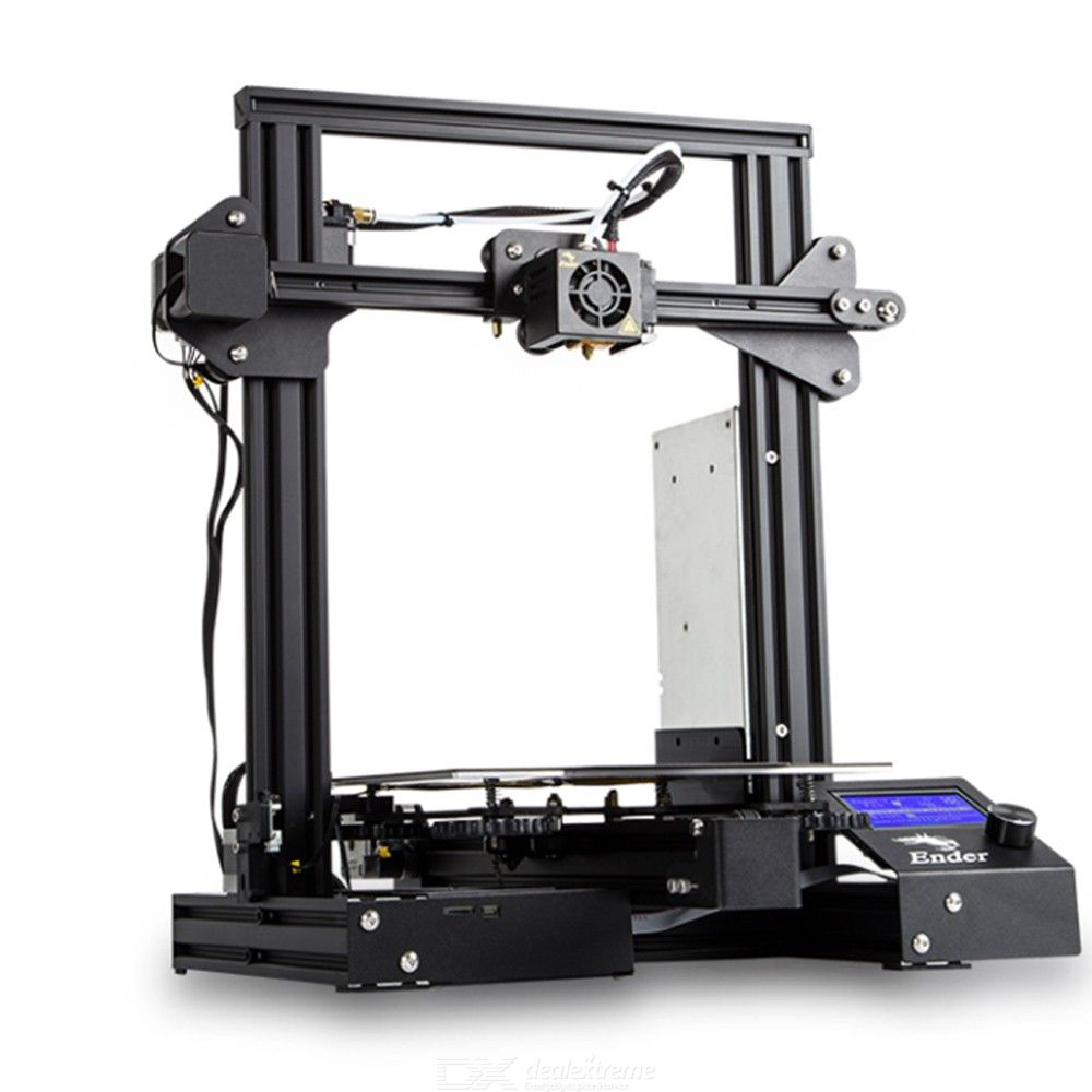 Creality 3D Ender-3 PRO 3D Printer Upgraded Cmagnet Build Plate Resume Power Failure Mean Well Power Supply