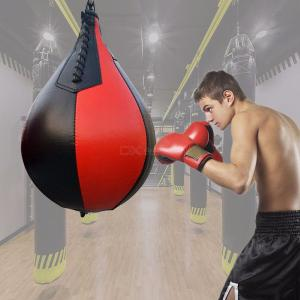 Boxing Pear Shape PU Speed Ball, Swivel Punching Exercise Speedball Speed Bag, Punch Fitness Training Ball