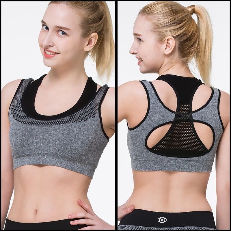 Breathable Seamless Sports Bra, Shockproof Wirefree Padded Bralette For Running Yoga Exercise