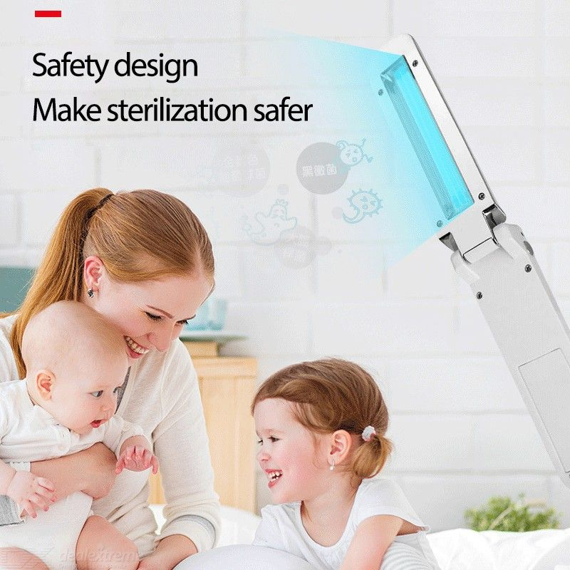 Portable Handled UV Sterilization Lamp Ultraviolet Disinfection Light For Home Travel Use