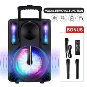 Karaoke Machine For Kids Adults, DJ Lights 10 Inch Woofer BT Connectivity Rechargeable PA Loudspeaker System