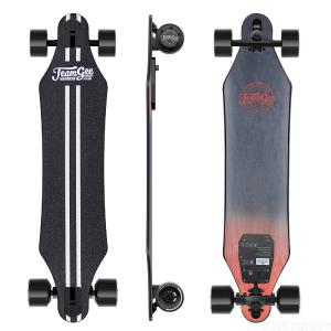 Teamgee H5 37 Inch Electric Skateboard, 22 MPH Top Speed, 760W Dual Motor, 11 Miles Range, 10 Layers Maple Longboard