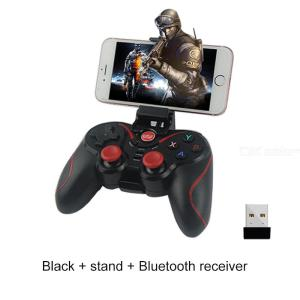 WE-8266 Bluetooth Wireless Gamepad Mobile Game Handle Controller With Phone Bracket For PS3 IPhone Android Phone