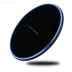 10W Fast Wireless Charger Station Ultra Slim Metal Qi Charging Pad For IPhone Samsung Nokia HTC LG And More