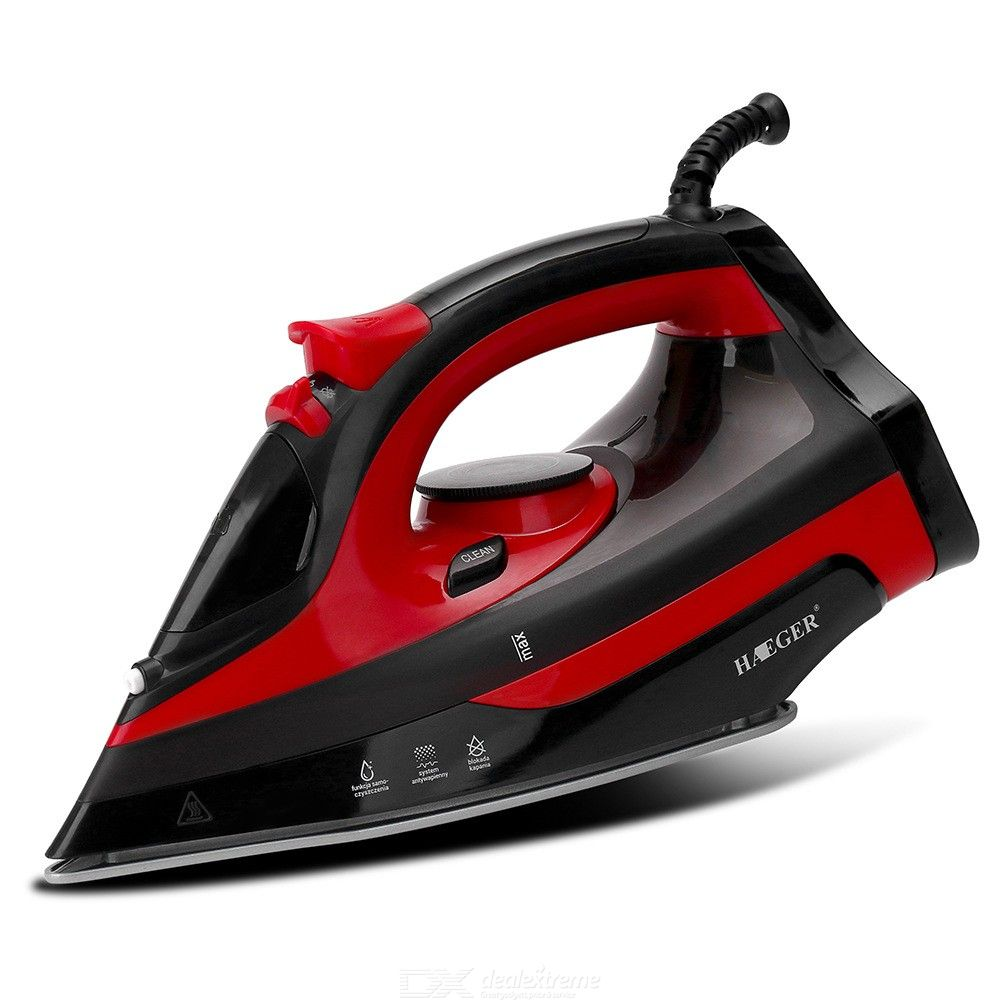Steam Iron 2000W Anti-Drip Steam Iron With Ceramic Soleplate 3 Temperature Levels For Ironing Clothes