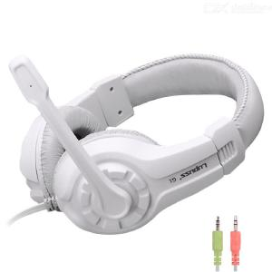 G1 3.5mm Wired Gaming Headphone Stereo Bass Sound Headset With Adjustable Mic For Computer Desktop Laptop