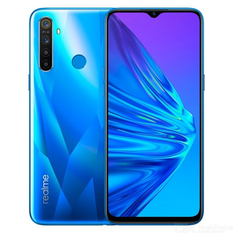 Realme 5 Global Version 6.5 Inch Full Screen Moblie Phone With 4GB RAM 128GB ROM, Snapdragon 665 AIE Quad Camera - EU Plug