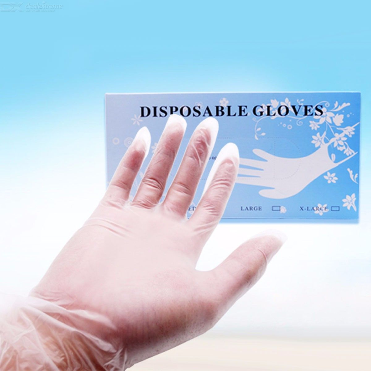 50Pcs Disposable Gloves For Housework Cleaning Kitchen BBQ Skin Care, Transparent Free Powder PVC Gloves (S)