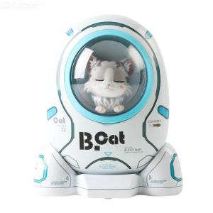 Portable Power Bank 10000mAh Cute Capsule Cat Dog Portable Charger With 2 USB Ports 18W Fast Charging Night Light