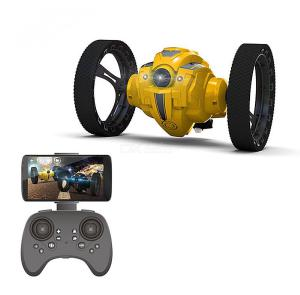 RC Bounce Car 2.4G Jumping Car With Camera 2.0mp Flexible Wheels Rotation LED Night Light RC Robot Car