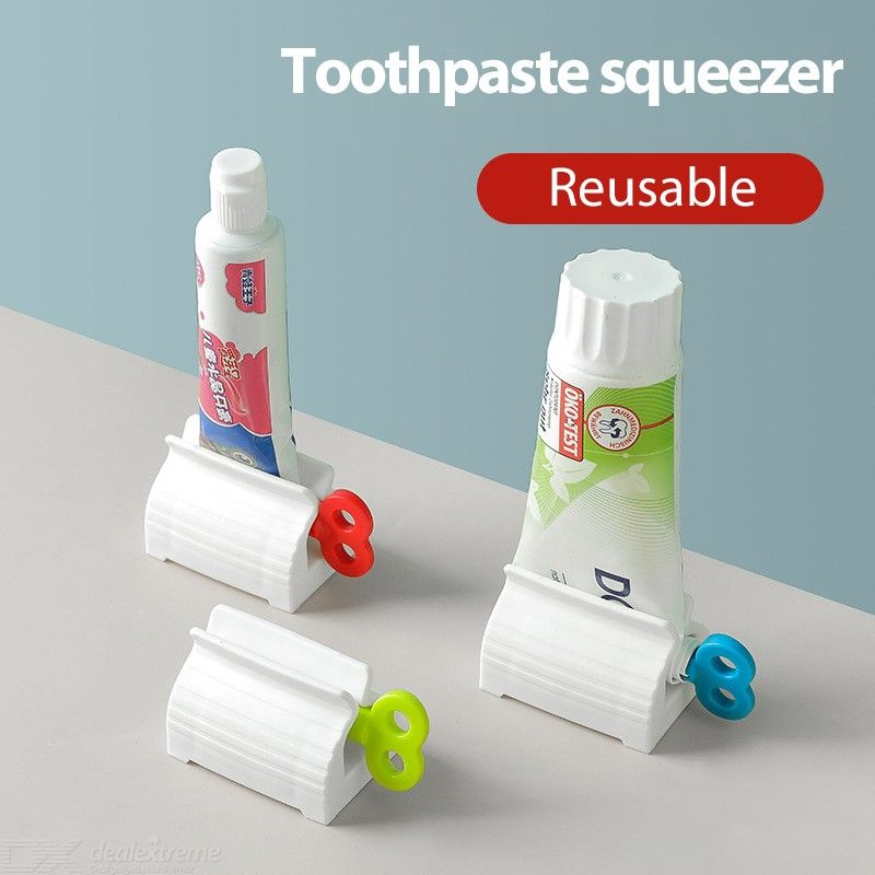 Creative Rolling Tube Toothpaste Squeezer Toothpaste Seat Holder Stand Rotate Toothpaste Dispenser