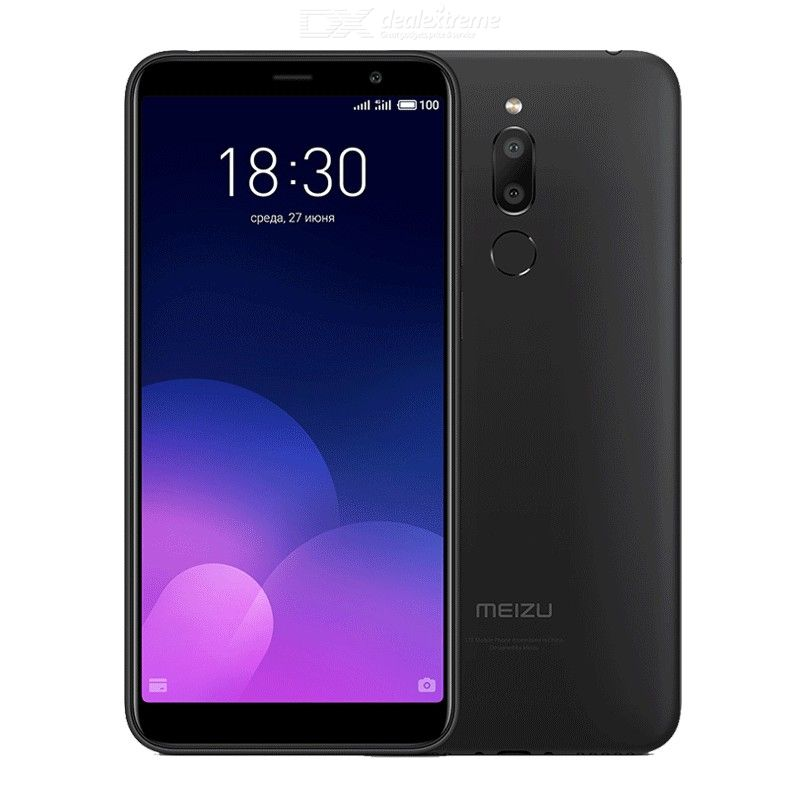 Meizu M6T 2GB 16GB Global Version Mobile Phone MTK6750 Octa-Core 5.7 Inch 1440x720P Dual Rear Camera 3300mAh Battery - EU Plug