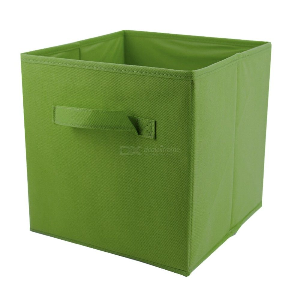 Storage Boxes Non-Woven Fabric Foldable Storage Cubes Toy Clothes Organizer Bins, 10.6  10.6  10.8 Inches