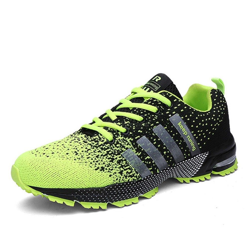 Unisex Breathable Lightweight Running Shoes Casual Lace Up Athletic Shoes Sneaker For Walking Marathon