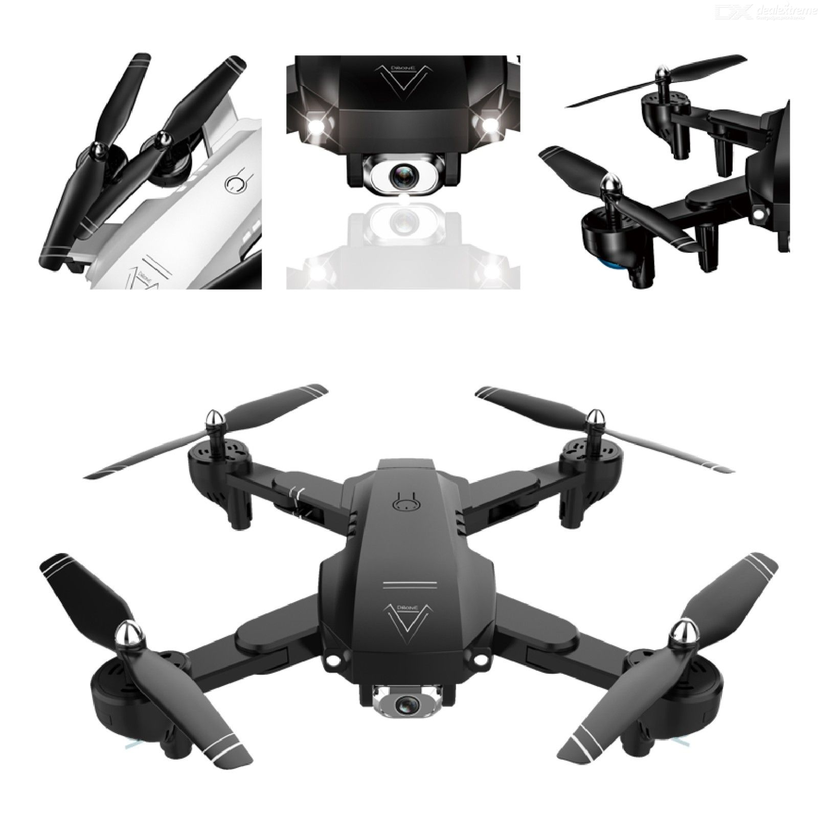 Drone With Dual Camera HD WiFi Quadcopter With One Key Takeoff Return Headless Mode