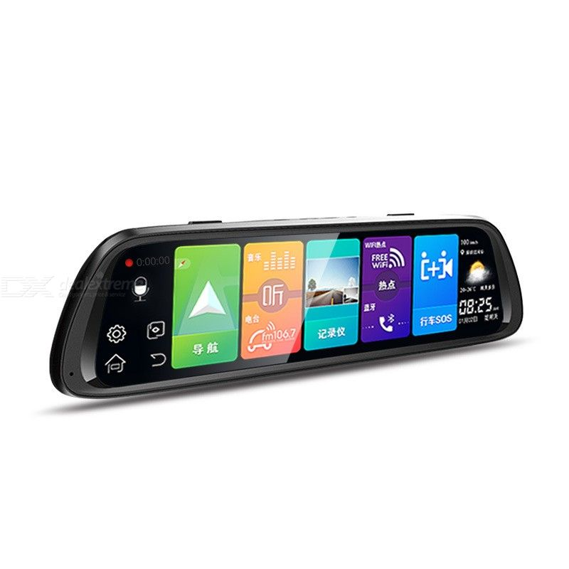 D30 Car Camera Rear Front Car Dash Cam With 10 Inch Display 170-Degree Wide Angles Parking Monitor GPS FM ADAS фото