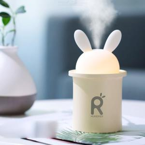 USB Mini Humidifier Cool Mist Mute Ultrasonic Air Humidifier With Night Light For Bedroom Baby Room Home Office Car
