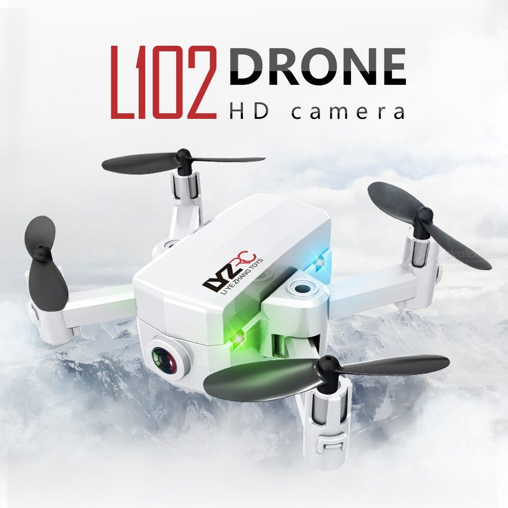L102 Drone With Camera 720P WiFi Dual Cam Quadcopter With One Key Takeoff Land Headless Mode Follow Me