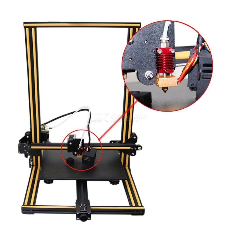 Assembled 24V MK8 Extrusion Head Kit for Creality 3D CR-10 Ender-3 Series
