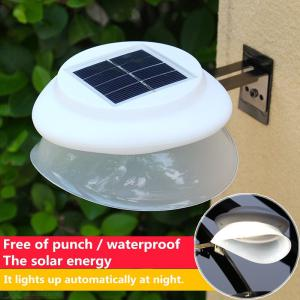 9LED UFO Wall Mounted Solar Lamp Free of punch for House / Garden
