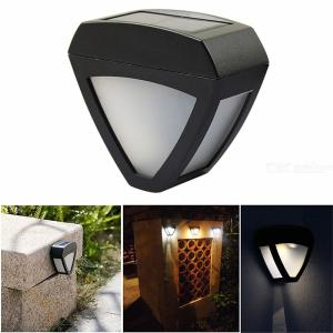 Creative Triangle Solar Fence Wall Light / Garden Lamp / Fence Lamp - Yellow Light