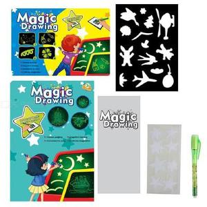 A3 Bright 3D Fluorescent Drawing Board Luminous Writing Pad For Kids Gift - 331.545cm