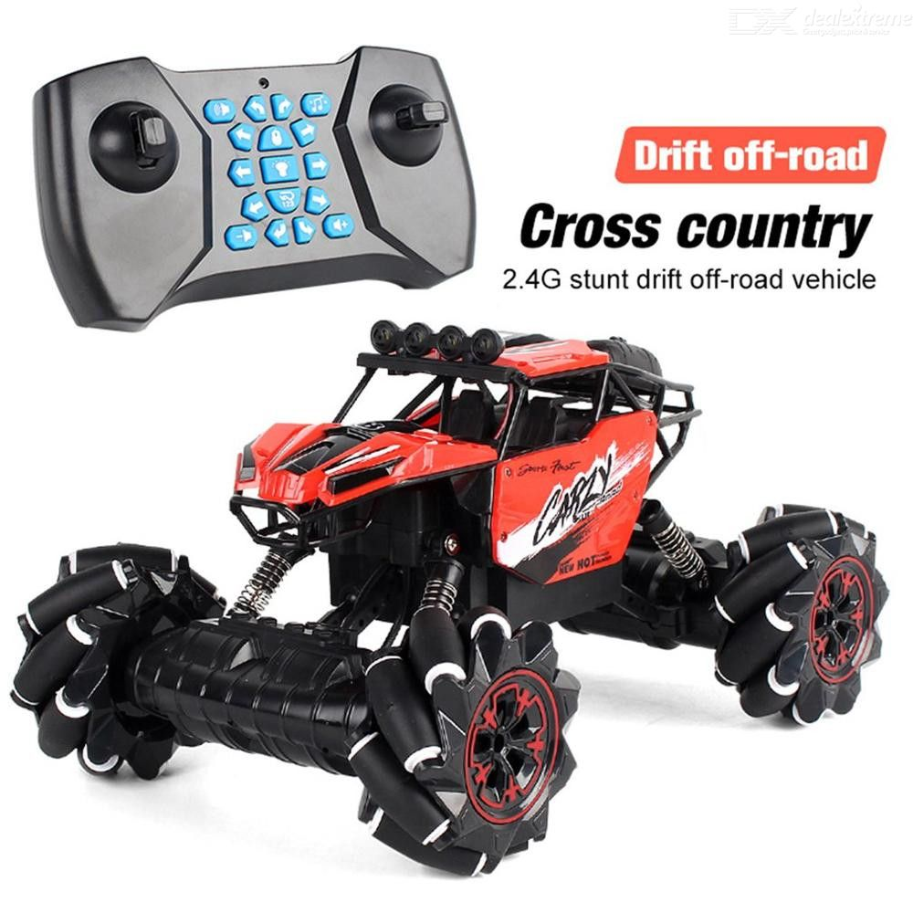 1:16 2.4GHz 4WD RC Car Off-road Music Remote Control Car Stunt Drift Climbing Car Toy for Children Gift