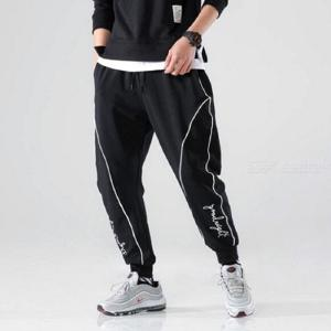 K159 Mens Cropped Pants Casual Sports Jogger Pants for Young People Teenagers