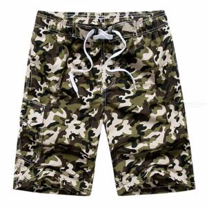 Fashion Mens Casual Camouflage Board Shorts, Casual Quick Dry Large Size Summer Male Beach Shorts, Short Pants