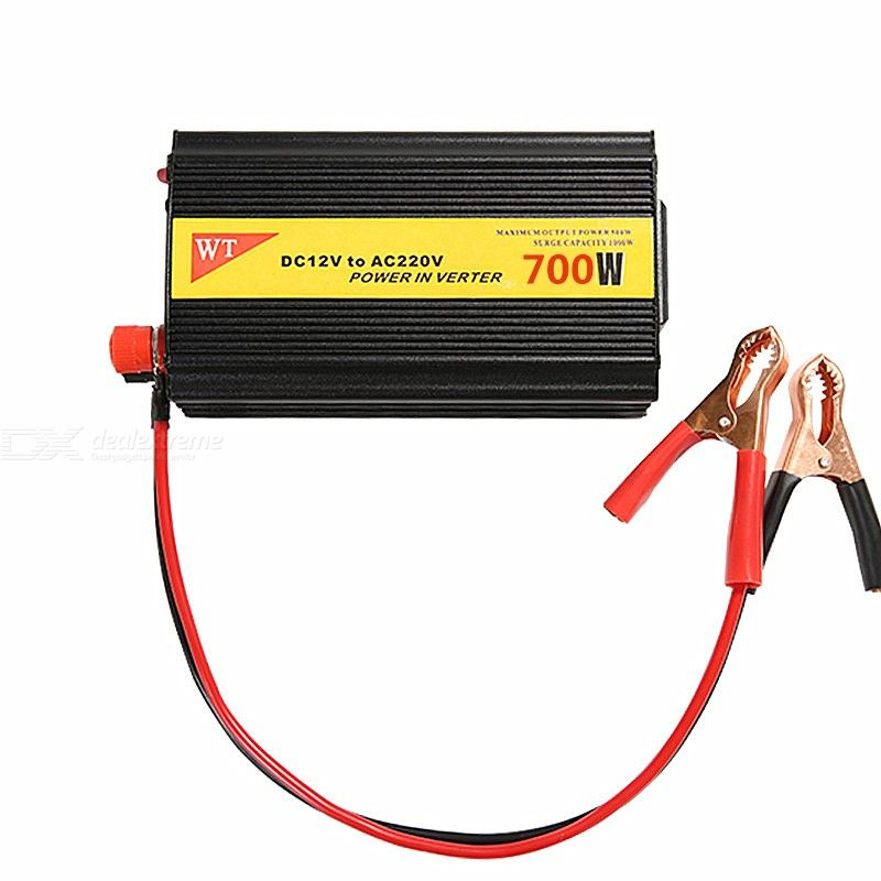 High Power DC 12V to AC 220V Car Inverter with USB / Universal Socket / Cooling Fan - 700W