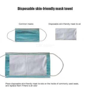 Face Mask Filter Disposable Respirator Mask Insert Replacement For N95 Mask For Coronavirus Prevention -100PCS/Set