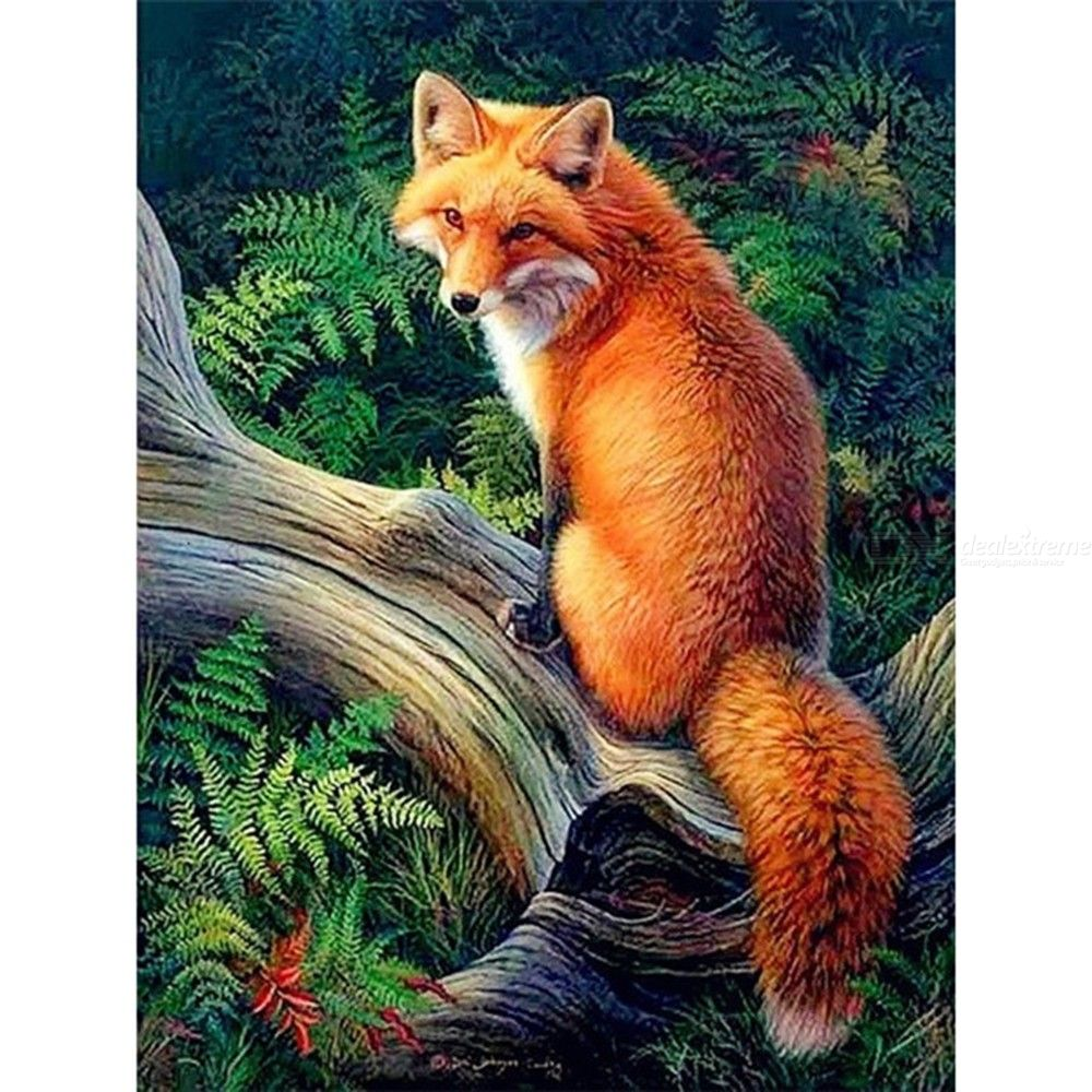 Diamond Painting 30x40cm Full Drill Fox In Forest Diamond Painting DIY 5D Diamond Painting Kits
