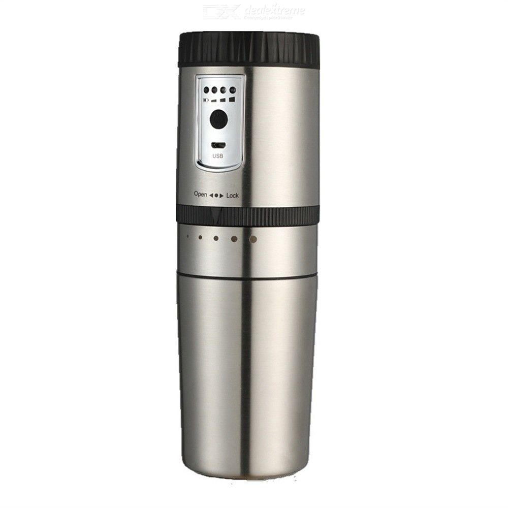 250ML Portable Bean Grinder With Cup Food-Grade Stainless Steel Mill Grinding Mug