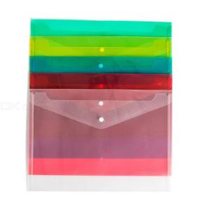 A4 Thick PP Transparent Folder Snap Clear File Document Organiser Pouch