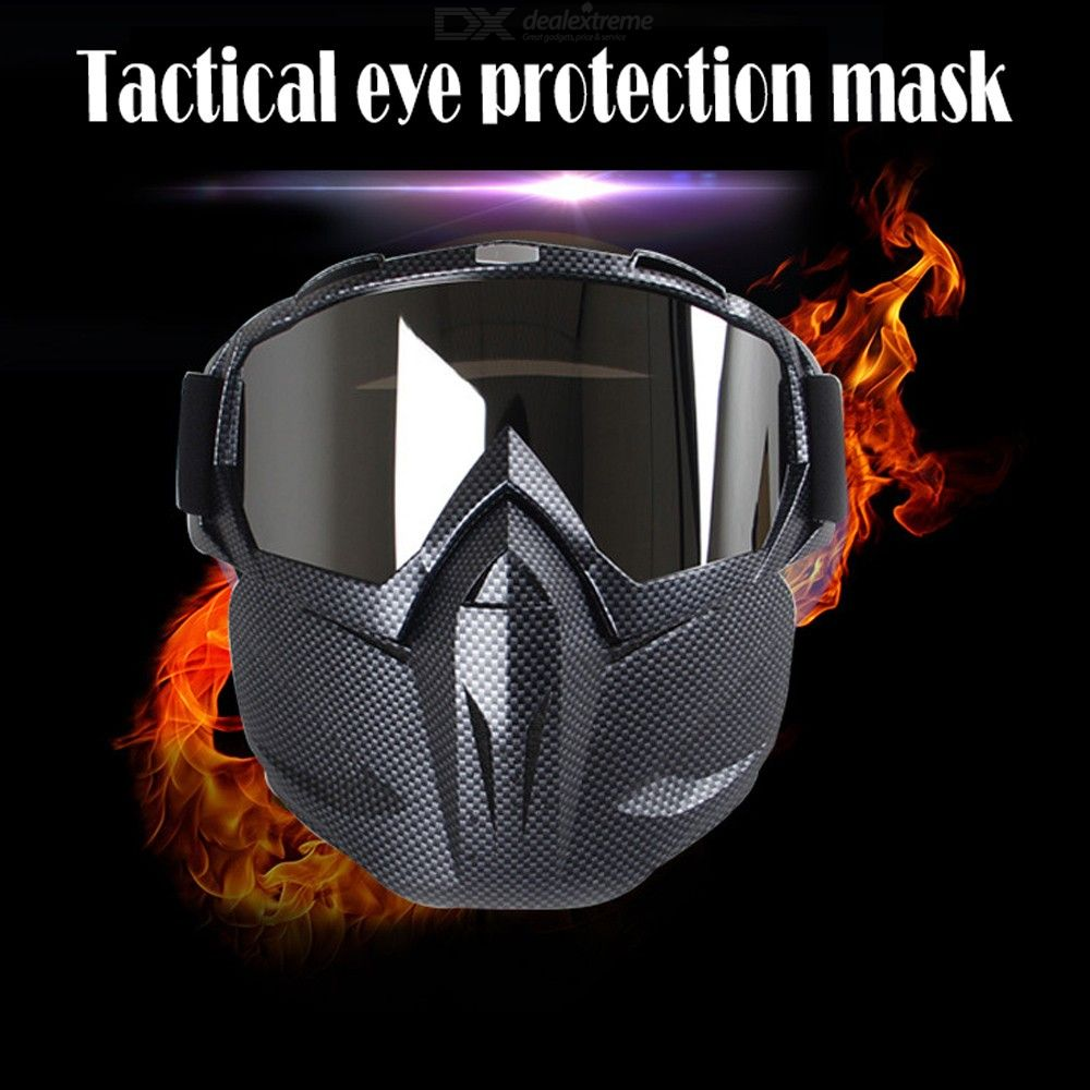 Outdoor Motorcycle Harley Helmet Goggles, Windproof Open Face CS Tactical Cycling Glasses Mask