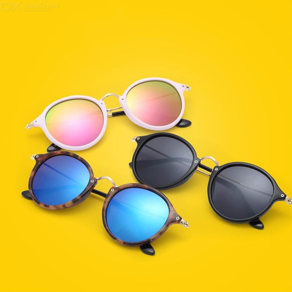 Personality Classic Round Lens Metal Retro Small Sunglasses, Unisex Teenager Eyewear Goggles