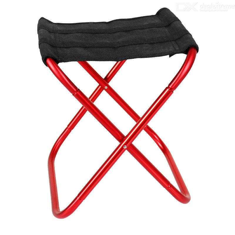Portable Folding Stool Aluminum Alloy Fishing Chair Foldable Camping Seat Lightweight Durable Outdoor Chairs