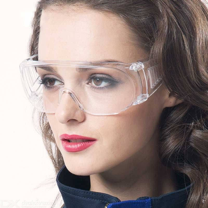 Transparent Anti-droplet Goggles Anti-fog Safety Glasses Protective Eyewear