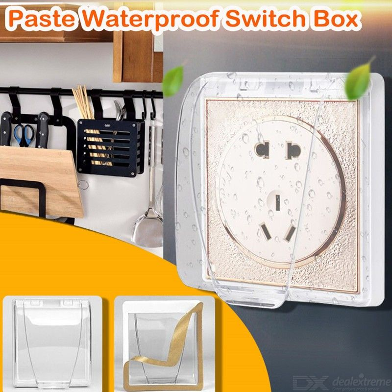 Universal Waterproof 86 Type Wall Socket Plate Panel Light Switch Box Cover Protector for Bathroom Kitchen